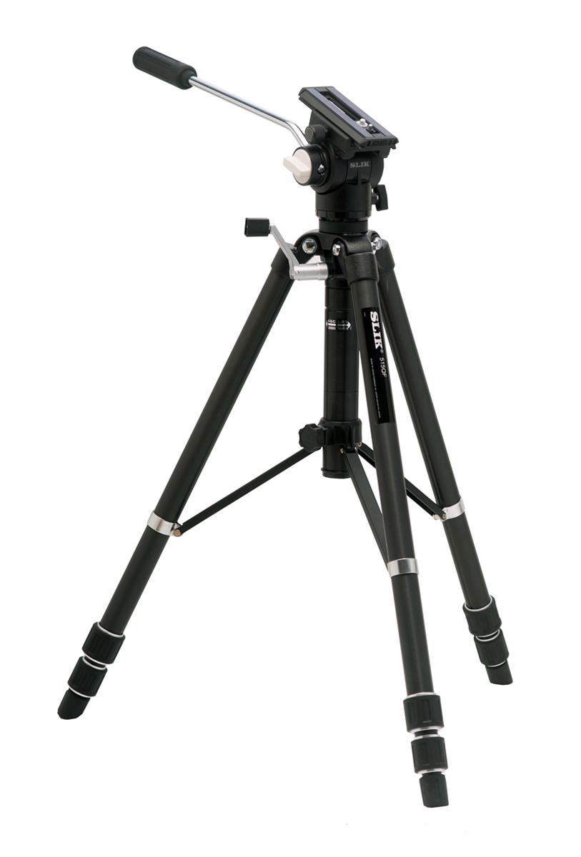 SLIK ビデオシリーズ 515QF 中型3段三脚『1~3営業日後の発送予定』大型ビデオ フィールドスコープ デジタルビデオカメラでの撮影に適するプロ仕様3段三脚。[デジタルバランスPRO]ビデオ雲台を搭載しスームズで快適な動作が可能【smtb-TK】[fs04gm][P19Jul15]
