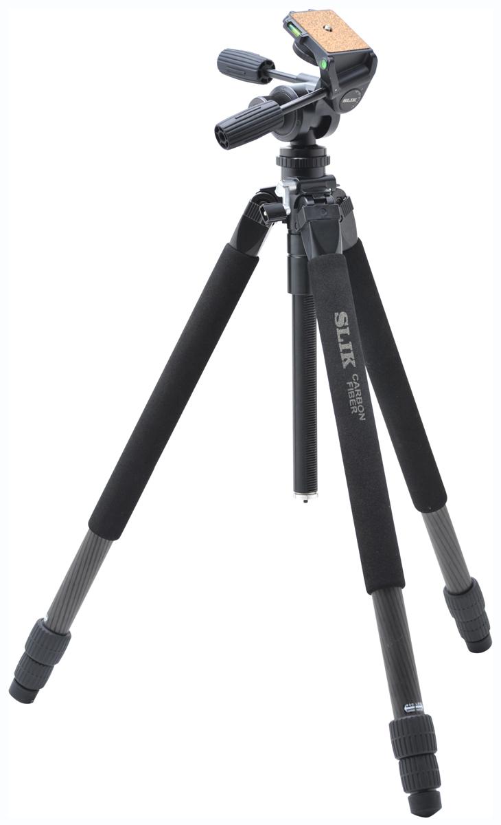 SLIK カーボンマスター923PRON『1~3営業日後の発送』[最大パイプ径32mm耐加重7kgのプロ仕様大型カーボン3段三脚!フルサイズデジタル一眼レフや望遠レンズなどの重量機材にもしっかり対応できる三脚。]【smtb-TK】[fs04gm][02P05Nov16]