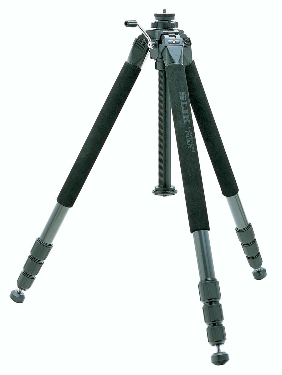 SLIK グランドプロ CF-4 超大型カーボン4段三脚『1~3営業日後の発送』[36mm径の太いカーボンパイプを採用したスリックのフラッグシップ機。高さ2.5mからの撮影が可能!報道用途だけでなく風景・建築の撮影にもオススメの三脚!]【smtb-TK】[fs04gm][P19Jul15]
