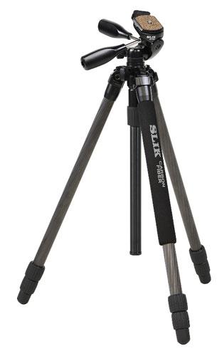 [送料無料]SLIK ライトカーボンEシリーズE73[シンプル装備でお手頃価格の、25mmパイプ径 中小型カーボン三脚・3段タイプ。軽量デジタル一眼レフにおすすめ。]【smtb-TK】