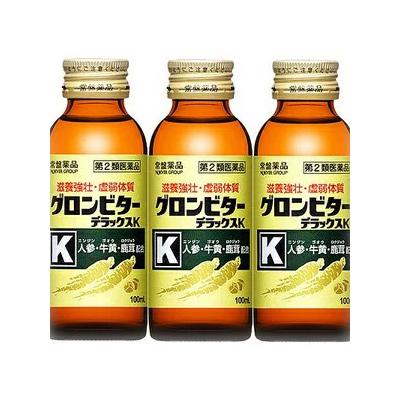 【第2類医薬品】グロンビターデラックスK 100ml 3本×20個(60本)常盤薬品★送料・代引手数料無料★発送まで1週間前後