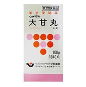 【第2類医薬品】ウチダの大甘丸100g (1340丸) 12個