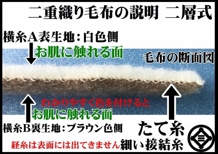 シングルサイズ公式三井毛織やわらか超長綿綿毛布縁も綿100%SC6176Swhナチュラル白