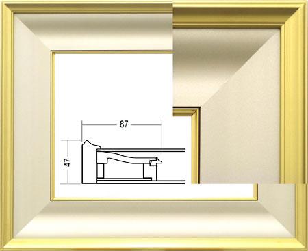 額.額縁.油彩額縁 3407 サイズF6(和額) 金色.銀色