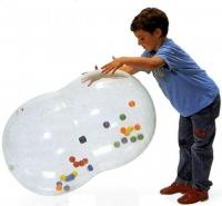 ギムニクアクションロール55(小さいカラーボール入り)【バランスボールアクションロール55】透明