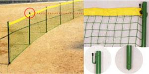 (メーカー直送)野球用防球フェンス【打ち込み式外野フェンス(1.2mx2m)】野球フェンス【別途送料商品】