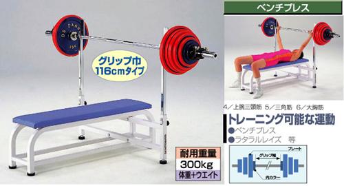 R41537(メーカー直送)【銀行前払いまたはクレジット払い扱い商品】()ダンノ(淡野)パワーベンチ(W1160)(トレーニングベンチ)ボディービル.ウエイトトレーニング