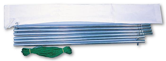 (別途送料商品)バックネット支柱(高さ4m用)【張りロープ+杭】付き