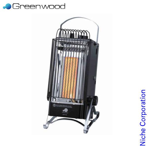 グリーンウッド カセットボンベ式ポータブルヒーター [ GCP-161-K ] [キャンプ アウトドア 登山 釣り 暖房器具 防寒]