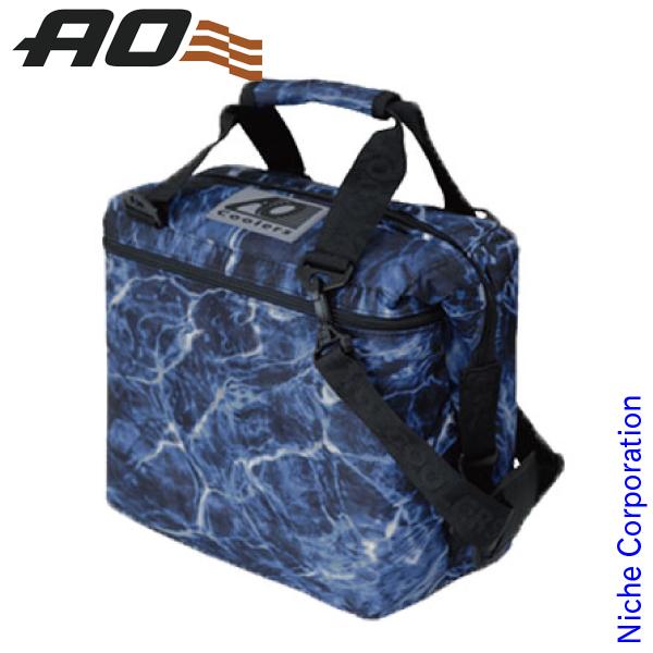 AOクーラーズ 12パック キャンバス ソフトクーラー モッシーオークブルーフィン AOELBF12 キャンプ用品