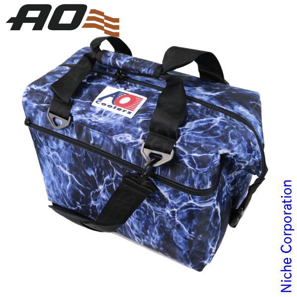 AOクーラーズ 24パック キャンバス ソフトクーラー モッシーオークブルーフィン AOELBF24 キャンプ用品