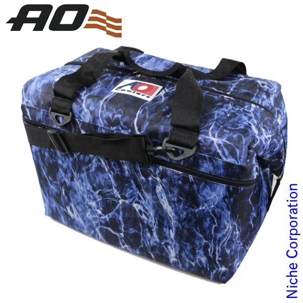 AOクーラーズ 48パック キャンバス ソフトクーラー モッシーオークブルーフィン AOELBF48 キャンプ用品 クーラーバッグ 45L