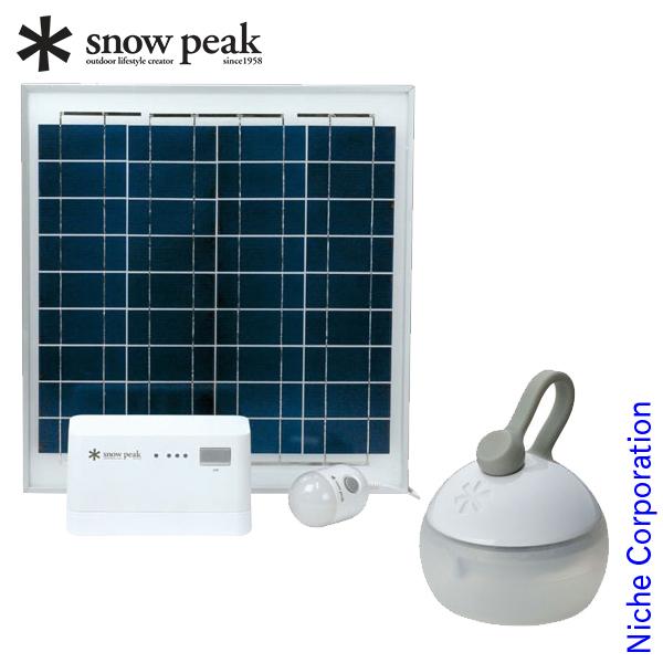 スノーピーク エマージェンシーセット ソーラーチャージャーライト 防災対策 EM-003 キャンプ用品