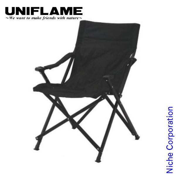ユニフレーム UFチェア100 オールブラック キャンプ イス 椅子 おりたたみ アウトドア