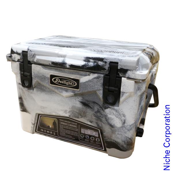 Deelight(ディーライト) アイスランドクーラー 20QT グレー&ホワイトカモ 008131