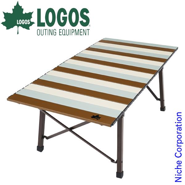 ロゴス テーブル Life コンパクトローテーブル 10050 ( ヴィンテージ ) アウトドア 机 折りたたみ