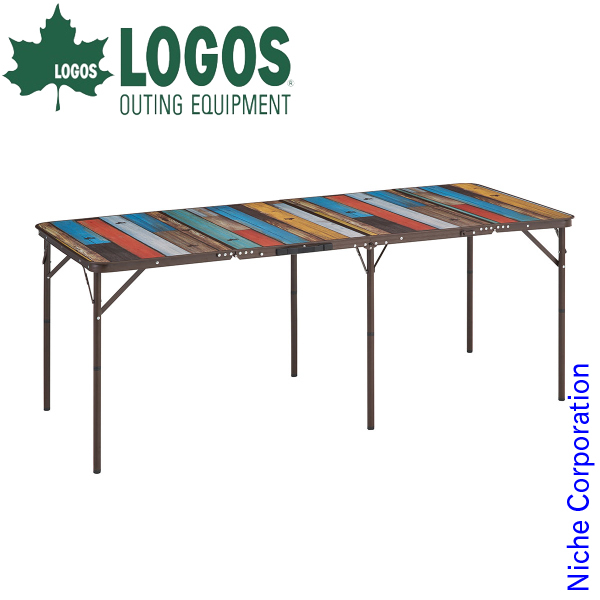 ロゴス テーブル グランベーシック 丸洗い4FDスリムテーブル 1880 アウトドア 机 折りたたみ