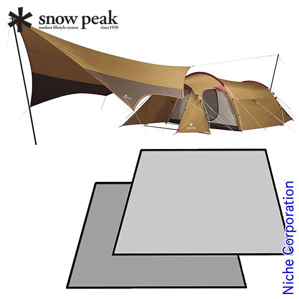 すぐキャン スノーピーク エントリーパックTT マットシートセット キャンプ用品 初心者 スターター テント ファミリー