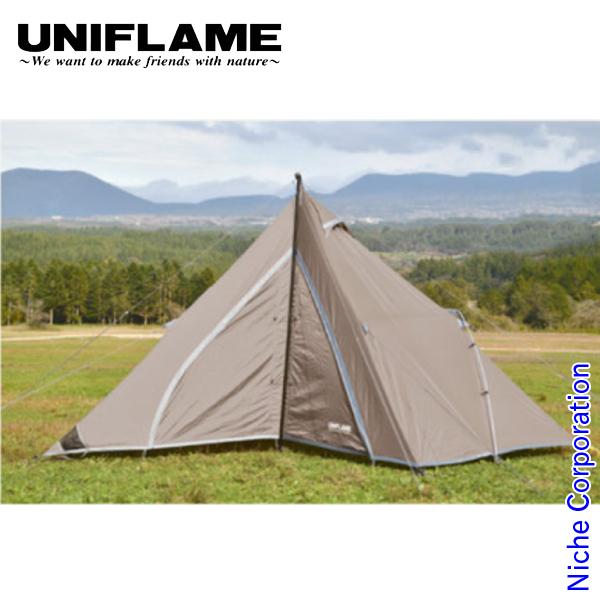 ユニフレーム テント REVOルーム4プラスII TAN キャンプ タープ アウトドア