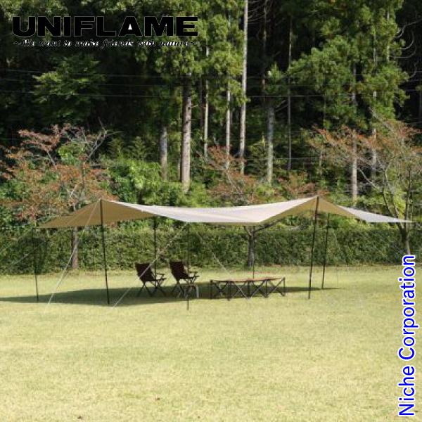 ユニフレーム UFビックタープ 8×6 TAN 693223 キャンプ用品