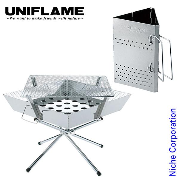 ユニフレーム ファイアグリル&チャコスタ II (683040 665435) UNI0-SET-201904C キャンプ用品