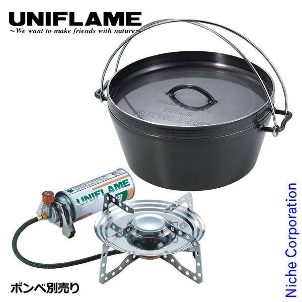 ユニフレーム ダッチオーブン12インチ&バナーセット キャンプ用品 シングルバーナー