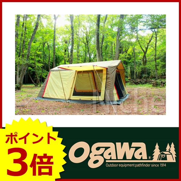 オガワキャンパル ロッジシェルターII (ブラウン×サンド×レッド) 3378 [P3] キャンプ用品 テント タープ