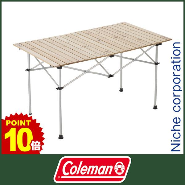 コールマン ナチュラルウッド ロールテーブル/120 [ 2000031291 ][P10] テーブル 折りたたみ 送料無料