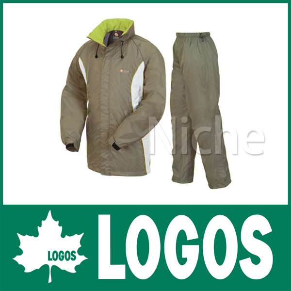 ロゴス レインスーツ ボルダー (カーキ) 2804357 キャンプ用品
