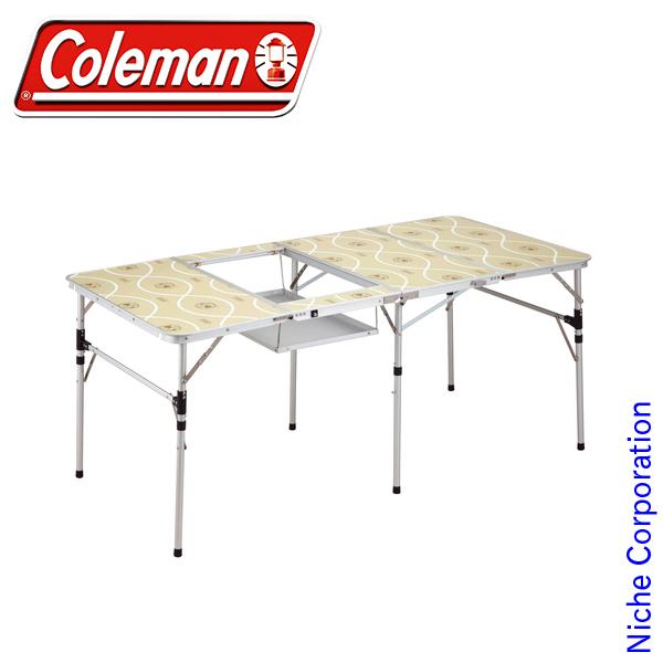 コールマン スリム四折BBQテーブル 170-7638 コールマン テーブル アウトドア テーブル キャンプ テーブル アウトドア テーブル 折りたたみ BBQ テーブル キャンプ 用品 オートキャンプ 用品 キャンプ用品