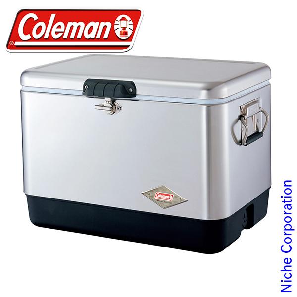 (Coleman)クーラーボックス コールマン 54QTステンレススチールベルト クーラー(シルバー) 3000001343 coleman コールマン クーラーボックス ホイールなし クーラー ボックス キャンプ用品