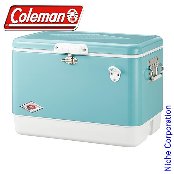 コールマン 54QTスチールベルト クーラー(ターコイズ) 3000003739 クーラー ボックス キャンプ用品