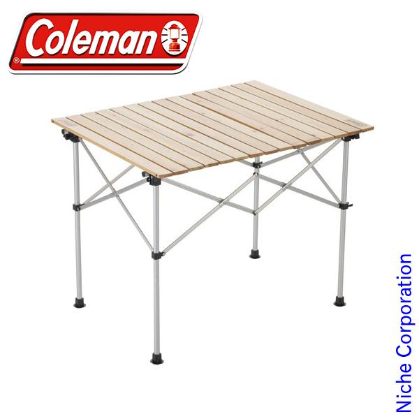 コールマン ナチュラルウッド ロールテーブル/90 2000031290 テーブル 折りたたみ キャンプ用品
