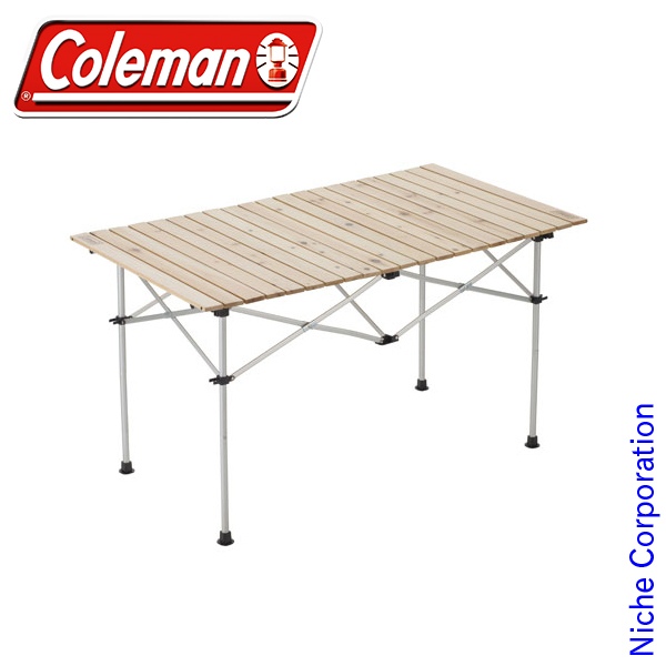コールマン ナチュラルウッド ロールテーブル/120 2000031291 テーブル 折りたたみ キャンプ用品 冬キャンプ