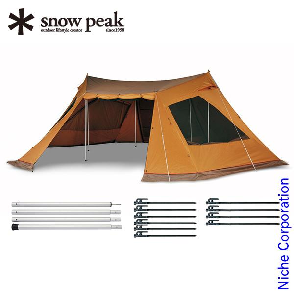 スノーピーク ランドベース6 セット TP-606S snow peak スノーピーク シェルター テント タープ キャンプ用品 gr-1903SS