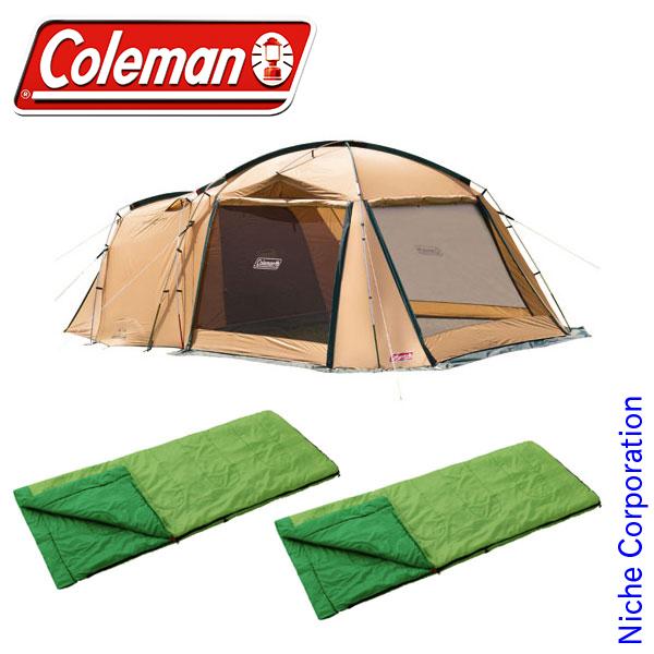 コールマン タフスクリーン2ルームハウス&パフォーマーII/C15 セット テント タープ 初心者 入門 セット エントリー 冬キャンプ