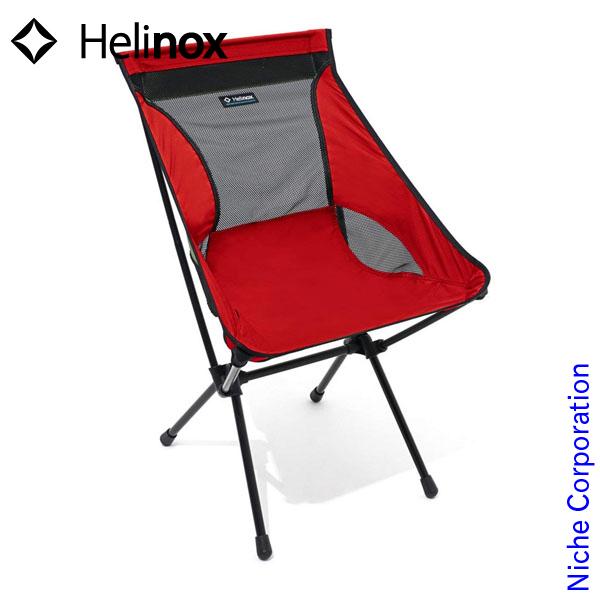 ヘリノックス キャンプチェア (レッド) 1822156-RD シート キャンプ用品 nocu