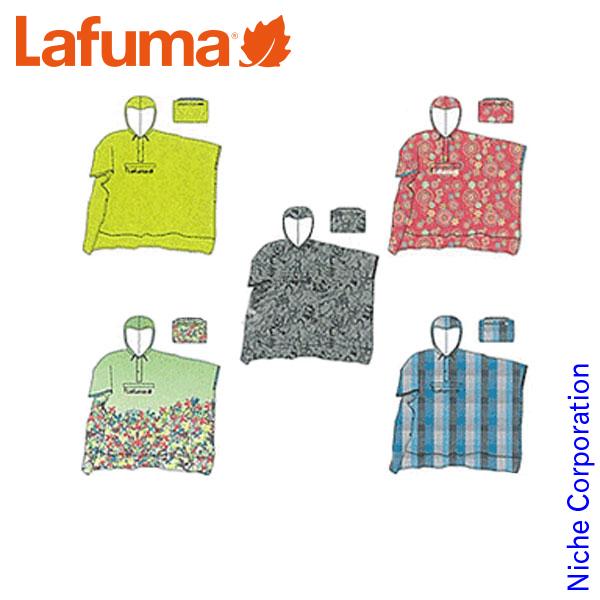 ラフマ フェスティフプリントポンチョ [ LFV0806 ] [ レインコート レディース かわいい レインウエア ポンチョ ならニッチで ] 《 Lafuma レインウェア なら ニッチ 》[雨具]