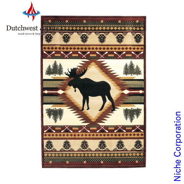 ハースラグ ムースウィルダネス ( ハースラグ ) [ UW25559H ] 敷き物 絨毯 ラグ 薪 薪ストーブ アクセサリー 暖炉