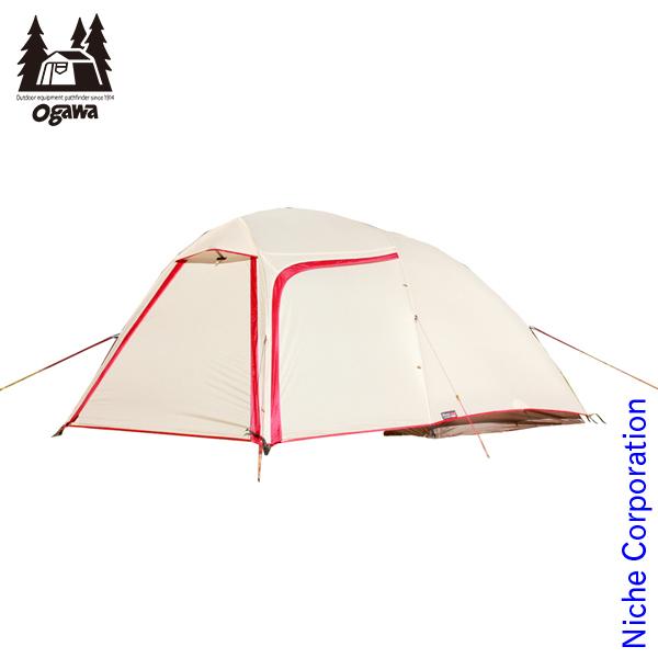 オガワキャンパル ( ogawa ) ステイシーネスト (クリーム×レッド) 2617 テント タープ