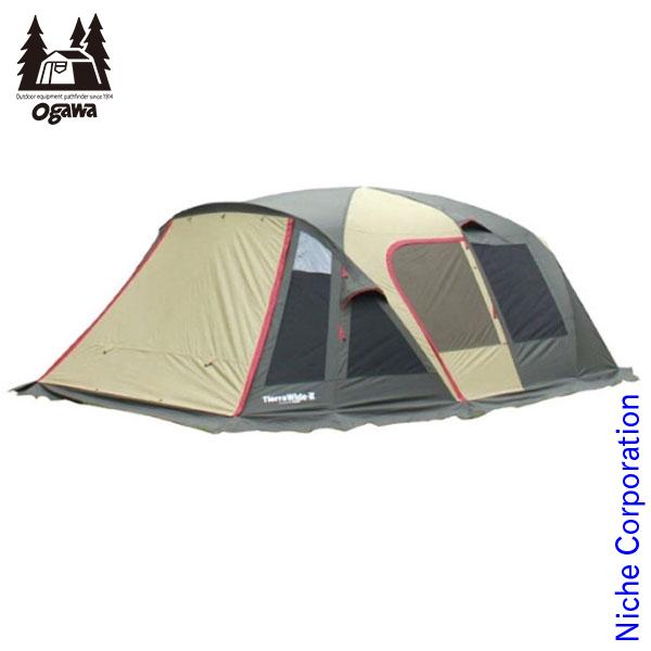 オガワキャンパル ティエラワイドII (ブラウン×サンド×レッド) 2778 テント タープ 2ルームテント nocu