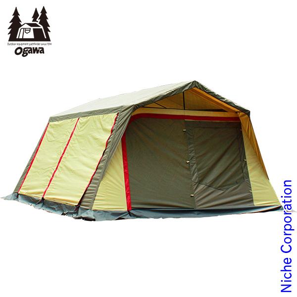 オガワキャンパル ( ogawa ) ロッジシェルターII (ブラウン×サンド×レッド) 3378 キャンプ用品 テント タープ nocu