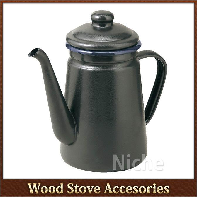 Black satin enamel coffee pot [TK-CP1] «fireplaces and wood burning - Niche Corporation Rakuten Global Market: Black Satin Enamel