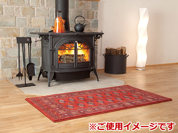 Atlantic (ATLANTIK)-Turkey woolhaaslug Kilman (Kaiser red) [03332] «fireplaces and wood burning stoves shop] [sales of wood-burning stove, wood-burning stove related products (wood burning stoves accessories)] [rugs] [Fireside fireside]