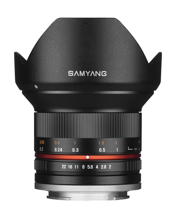 [SAMYANG]12mm F2.0 NCS CS キヤノン M用 ブラック
