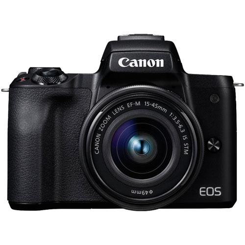 【納得の3年保証付き】[キヤノン]EOS Kiss M EF-M15-45 IS STM レンズキット ブラック