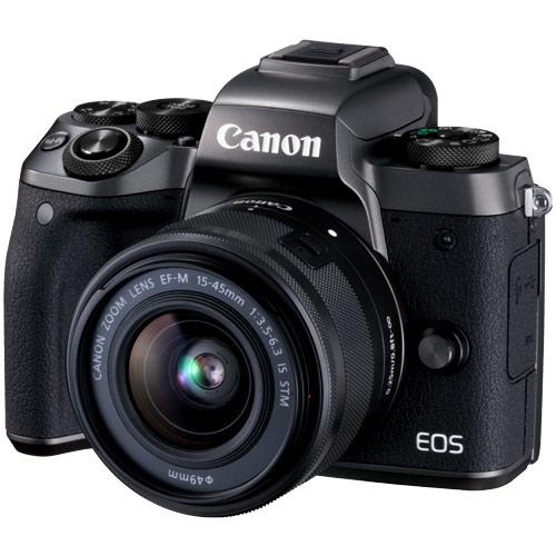 【納得の3年保証付き】[キヤノン]EOS M5 EF-M15-45 IS STM ブラック
