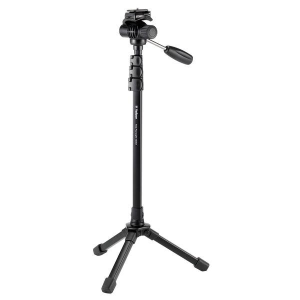 [ベルボン]Pole Pod Light VIDEO レバー式 アルミ製 スタンド型一脚 フリュード雲台搭載 ポールポッドライト ビデオ