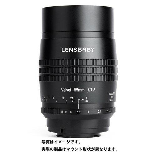 [LENSBABY]レンズベビーベルベット 85mm BK F1.8 ソフト キヤノンRFマウント