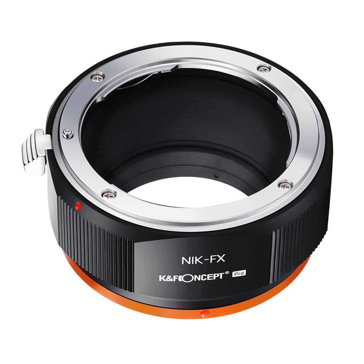 KF 贈り物 CONCEPT KF-NFX.P 最新アイテム レンズマウントアダプター レンズ側:ニコンF→カメラ側:フジX